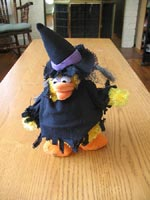 Tacky Spooky Polka Dancing Chicken Witch