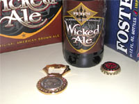 The Original Popener, just before it was broken opening a bottle of Pete's Wicked Ale