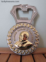 Pope John Paul II popener with Pope Benedict XVI on the reverse