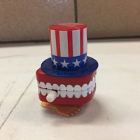 Uncle Sam Chattering Teeth