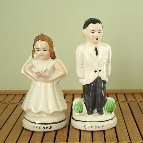 Before And After Wedding Salt Pepper Shakers
